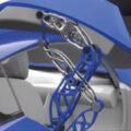 Mécanisme de fermeture de porte de type papillon conçue en impression 3D