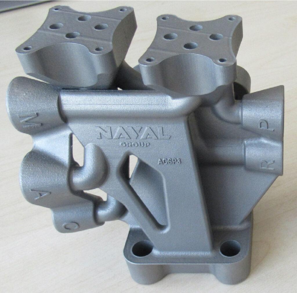 Bloc hydraulique optimisé en fabrication additive.