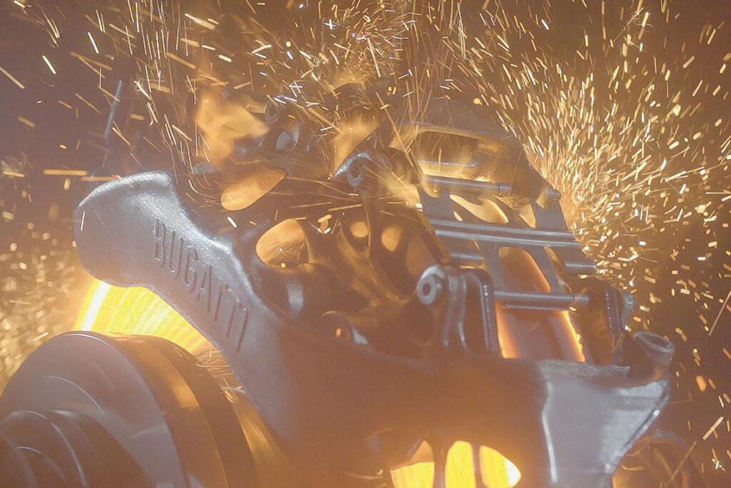 Test de l'étrier de frein de Bugatti imprimé en titane par SLM Solutions