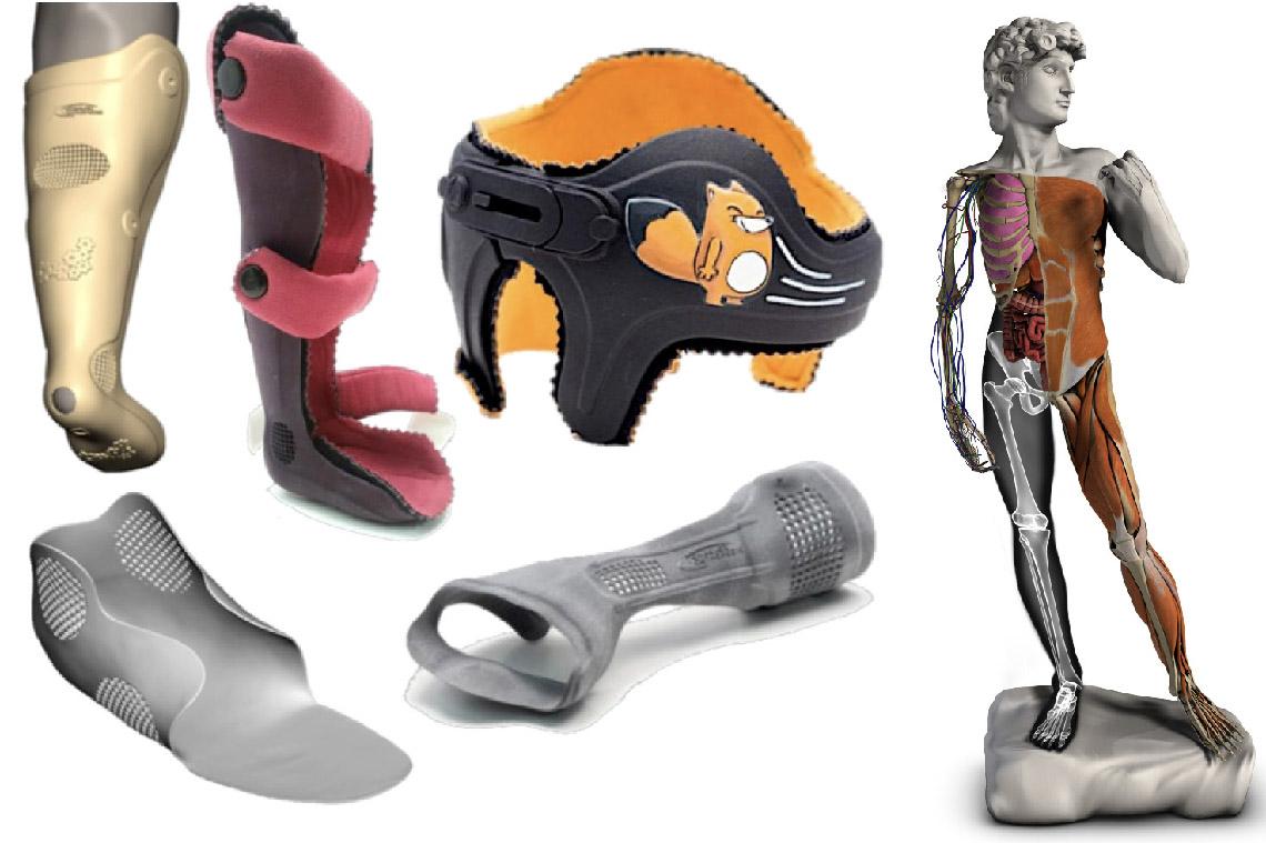 Exemples d'objets personnalisés par la technologie d'AnatoScope.