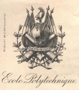 L'X, surnom de l'École polytechnique, se retrouve dans les armes de l'École.