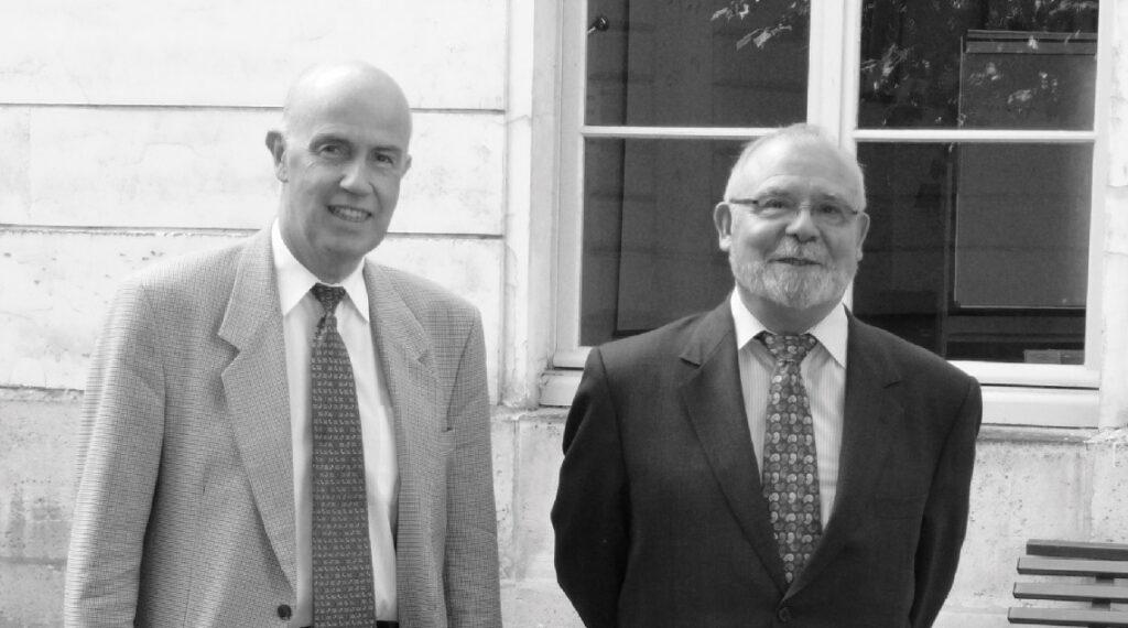 Un duo complice à la tête de La Jaune et la Rouge entre 2007 et 2014, Jean-Marc Chabanas (à droite) et Hubert Jacquet (à gauche).