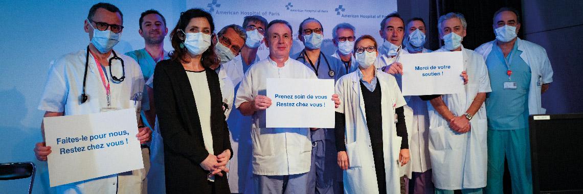 Médecins, soignants et administration unis pour faire face.