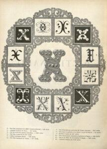 Représentation du X, qui est le surnom de l'École polytechnique.