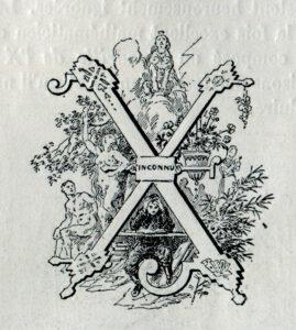 Félix Bracquemond, Allégorie autour de la lettre «X», surnom de l'École polytechnique