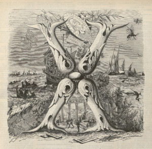 Représentation du X, Grand Dictionnaire universel du xixe siècle, 1876. Cliché École polytechnique.