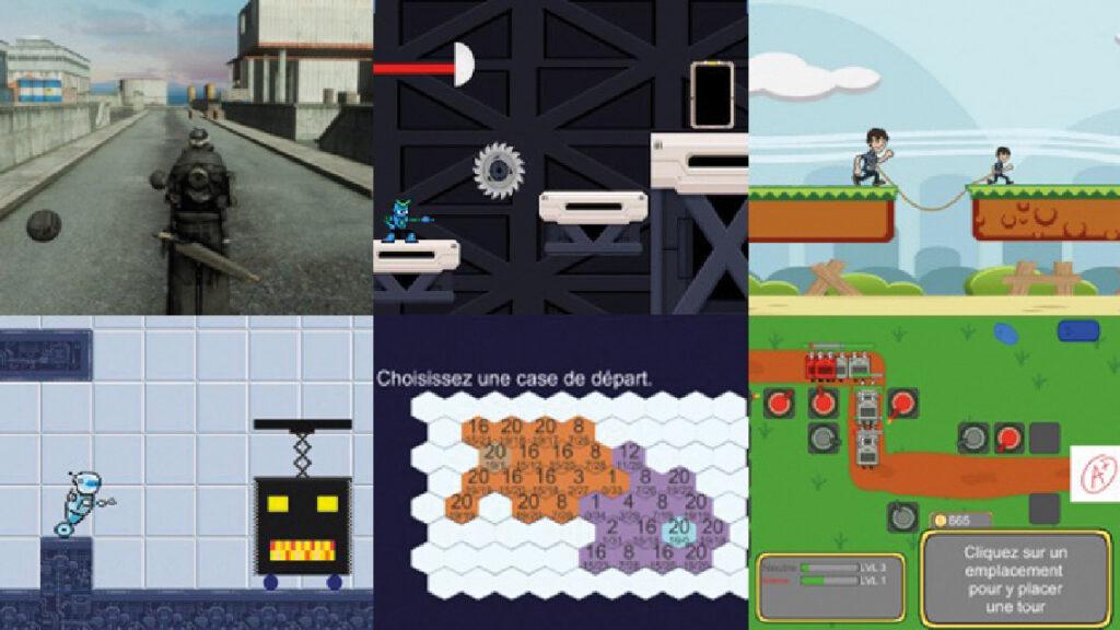 Projets réalisés par les étudiants de la chaire science et jeu vidéo