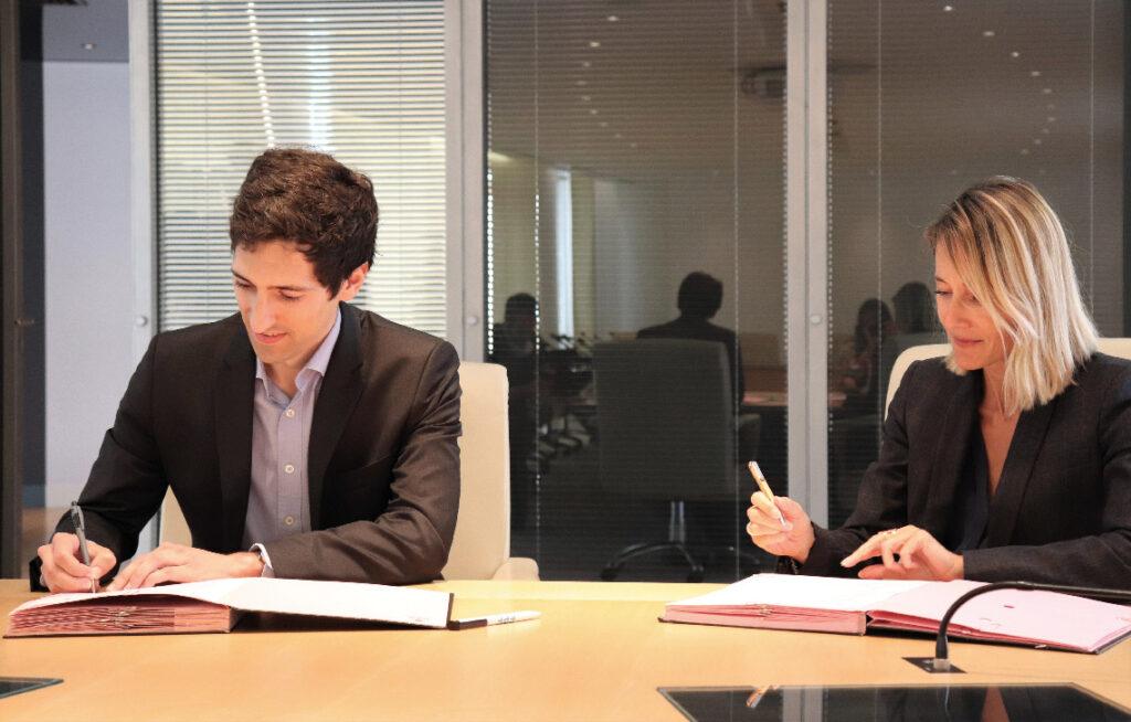 Signature du partenariat Association Territoires et Grandes écoles et Fondation Nationale du Crédit Agricole