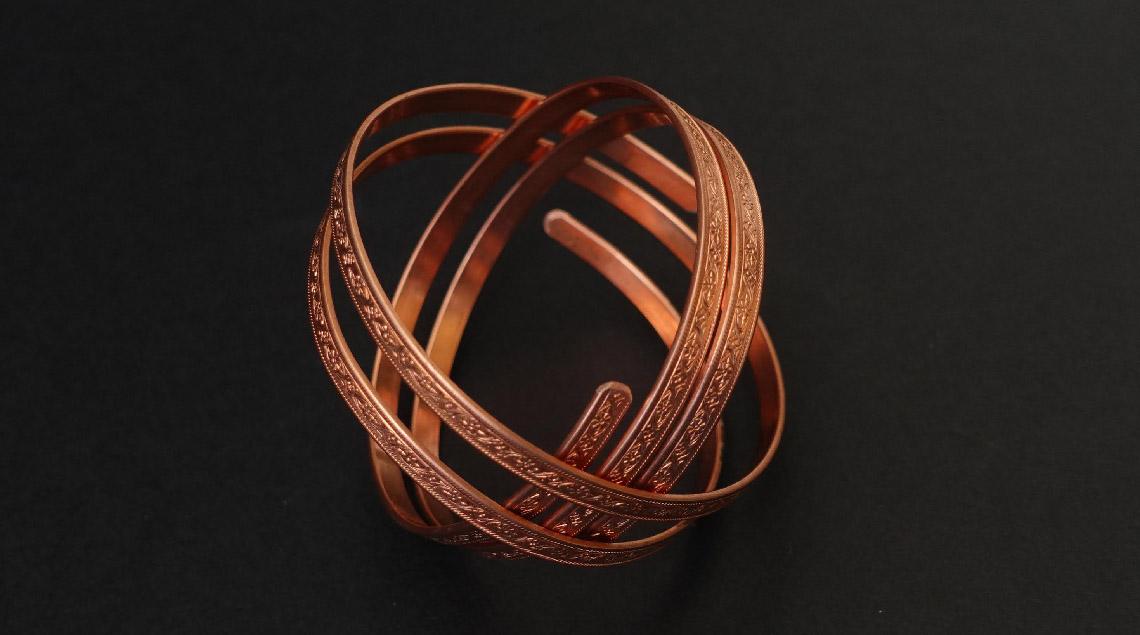 Bracelet en cuivre au vertus pour la santé