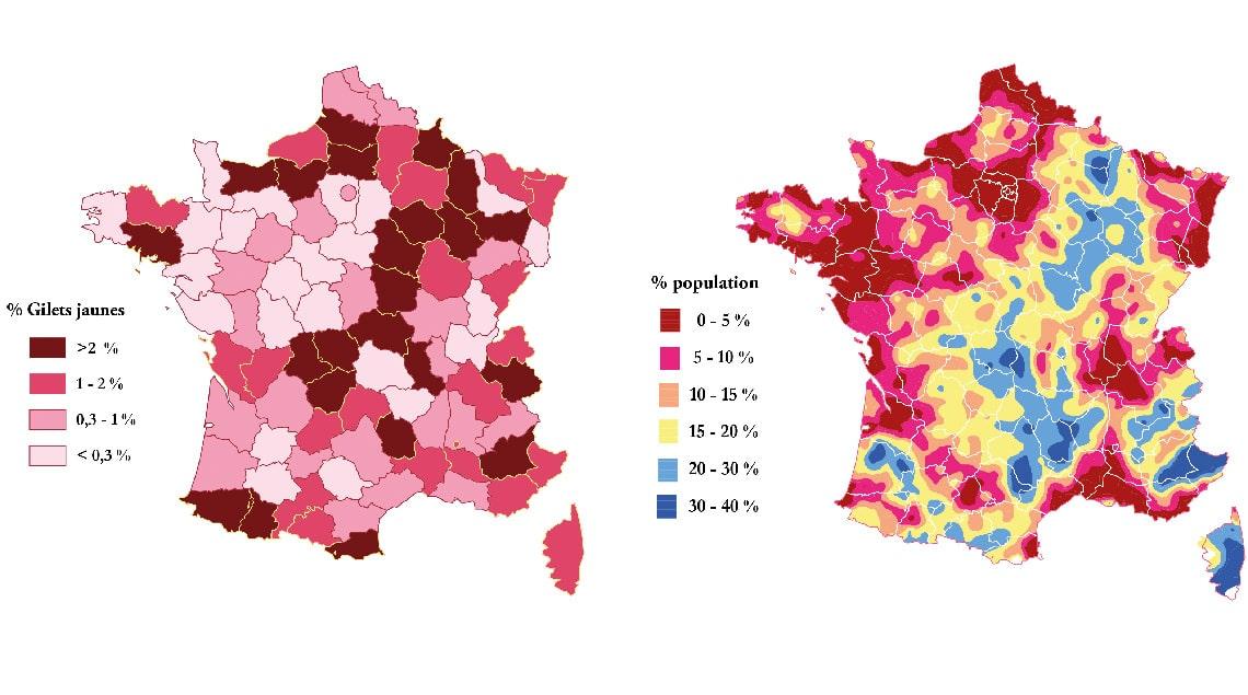 Diversité territoriale : la France des Gilets Jaunes