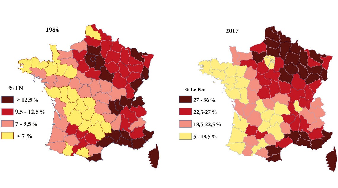 Diversité territoriale du vote lepéniste