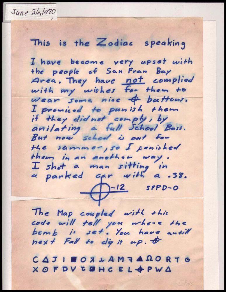 Le code Z32 comporte 32 caractères, tout en bas d'une lettre du Zodiaque.