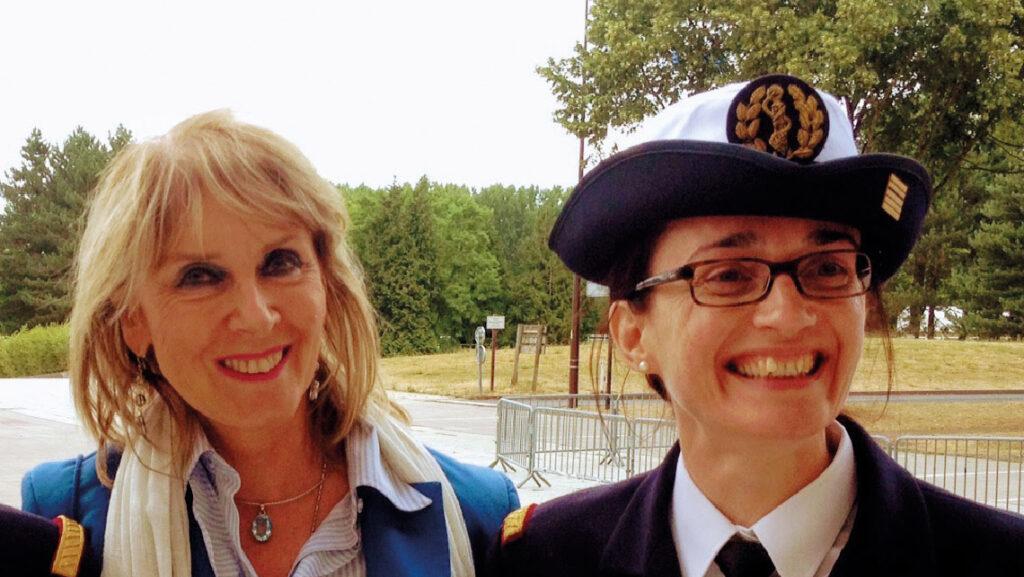 Anne Delaigue, cheffe du service psychologie de l'école polytechnique et Florence Robin, médecin-chef militaire.