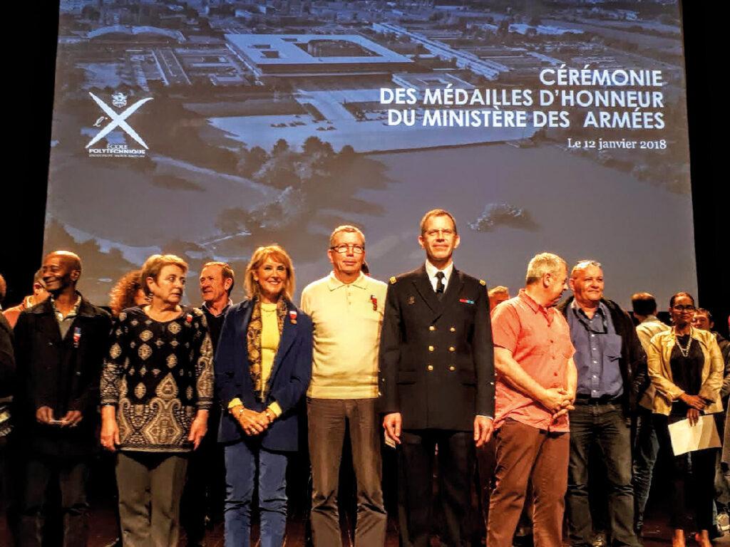 Anne Delaigue lors de la cérémonie des médaille d'honneur du ministère des armées le 12 janvier 2018
