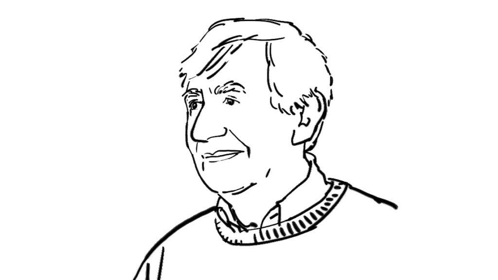 Portrait de Denis Oulès par Laurent Simon
