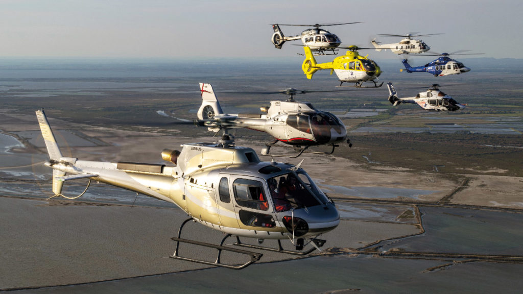 Les hélicoptères civils d'Airbus Helicopters.