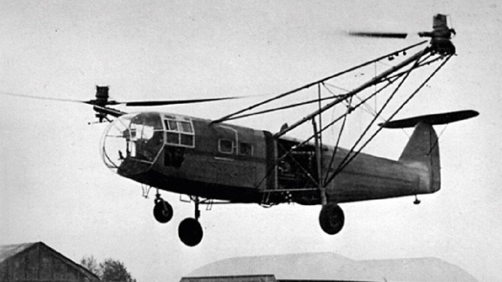 En Allemagne, le Focke-Achgelis FA 223 vole dès 1940...