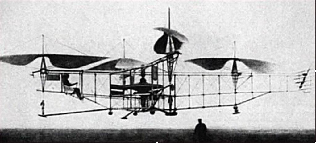Le quad d'Étienne Oehmichen boucle le premier kilomètre en circuit fermé, en 1924.